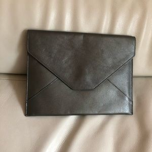 Eileen Fisher Leather Metallic Clutch.